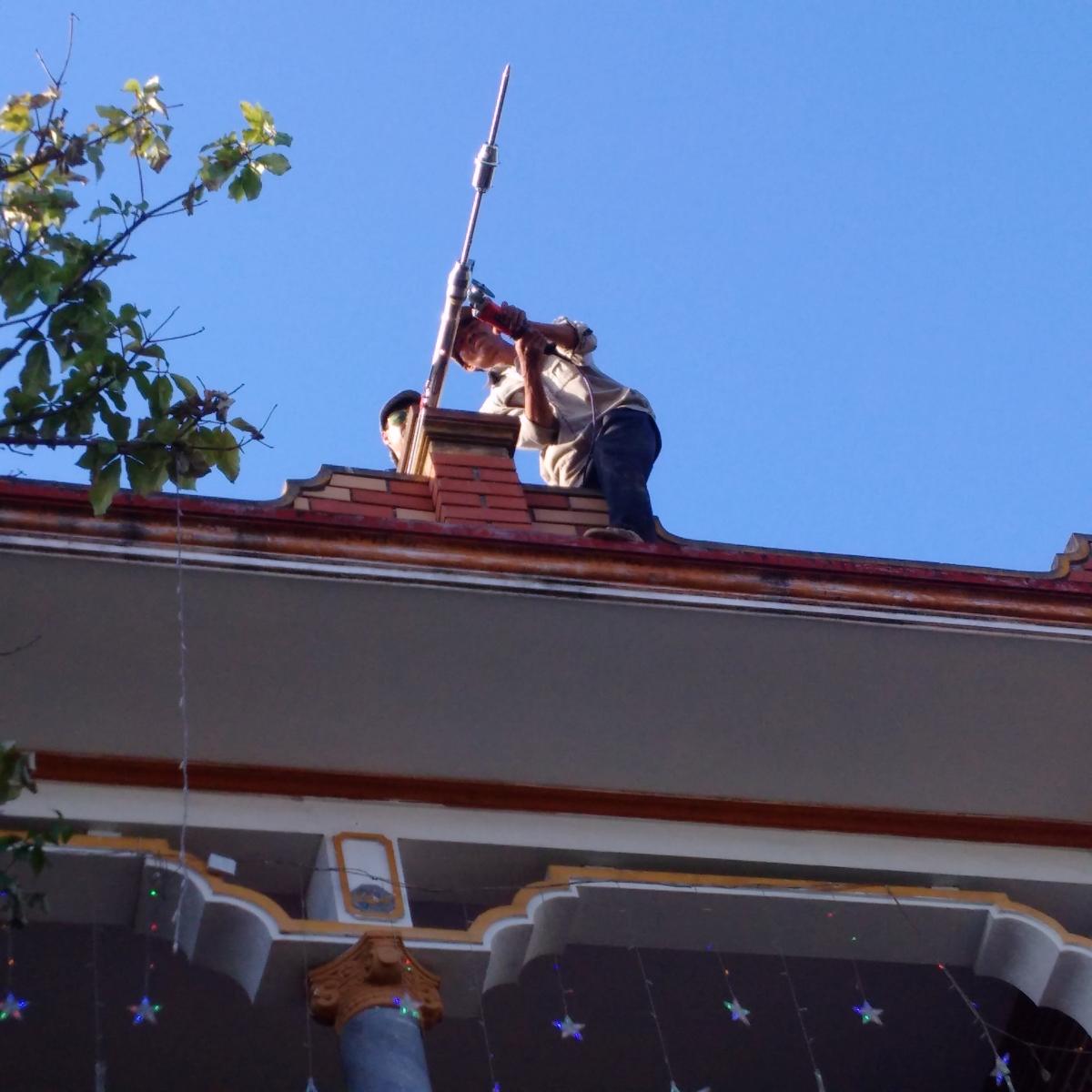 Thi công lắp đặt hệ thống chông sét ở Hải Phong